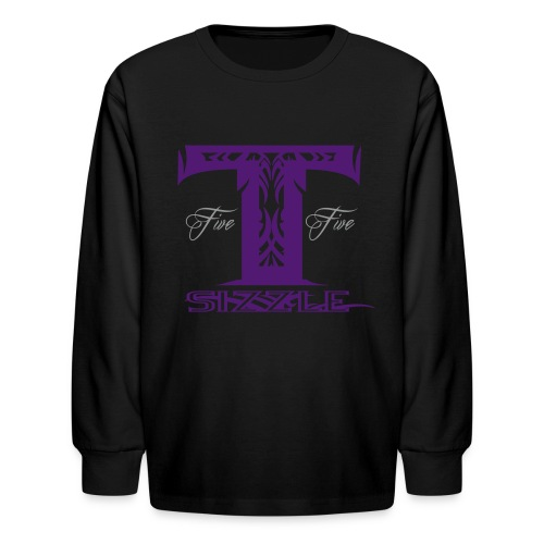 KIDS LONG SLEEVE  T SIZZLE LOGO BLK/ PURPLE - Kids' Long Sleeve T-Shirt