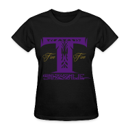 Women's T-Shirts ~ Women's T-Shirt ~ WOMENS T SIZZLE LOGO T BLK/PURPLE