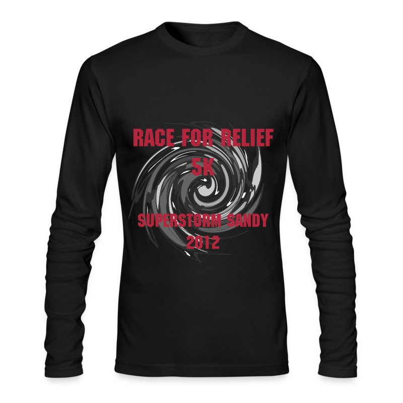 Black and Grey Twist - Men's Long Sleeve T-Shirt by Next Level
