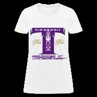 T-Shirts ~ Women's T-Shirt ~ WOMENS T SIZZLE LOGO T WHITE/PURPLE