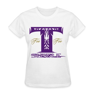 WOMENS T SIZZLE LOGO T WHITE/PURPLE - Women's T-Shirt