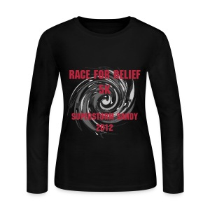Race for Relief Long Sleeve Woman's Tee - Women's Long Sleeve Jersey T-Shirt