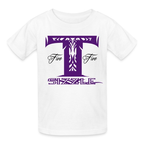 KIDS SHORT SLEEVE  T SIZZLE LOGO WHITE/PURPLE - Kids' T-Shirt