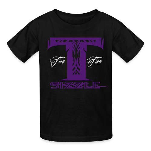 KIDS SHORT SLEEVE  T SIZZLE LOGO BLK/PURPLE - Kids' T-Shirt