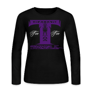 Long Sleeve Shirts ~ Women's Long Sleeve Jersey T-Shirt ~ WOMENS LONG SLEEVE T SIZZLE LOGO WHITE/PURPLE