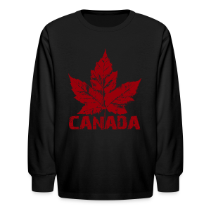 Kid's Cool Canada Souvenir Shirt Maple Leaf Cool Kid's T-shirt - Kids' Long Sleeve T-Shirt