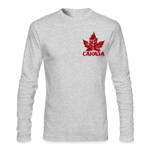 Cool Canada Souvenir Shirts Men's Canada Flag Shirt - Men's Long Sleeve T-Shirt by Next Level