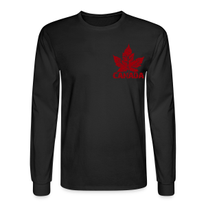 Cool Canada Souvenir Shirts Men's Canada Flag Shirt - Men's Long Sleeve T-Shirt