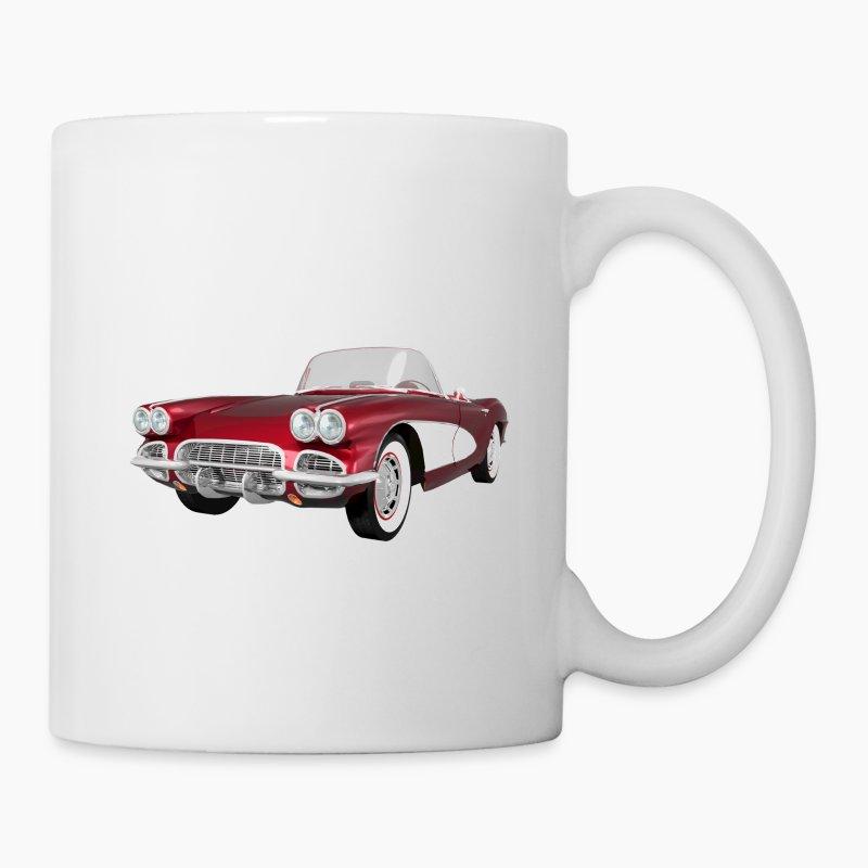 1961 corvette c1 mug spreadshirt. Black Bedroom Furniture Sets. Home Design Ideas