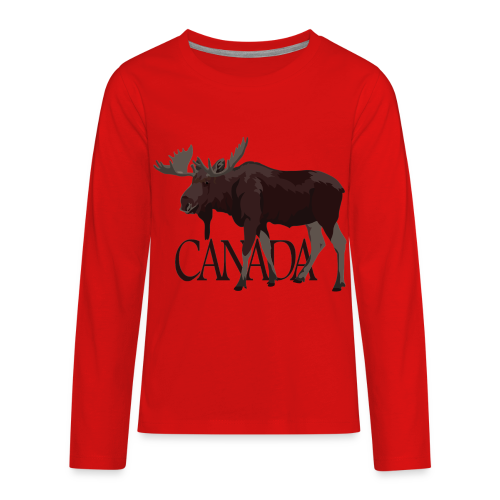 Canada Moose Souvenir Shirts Kid's Long Sleeve - Kids' Premium Long Sleeve T-Shirt