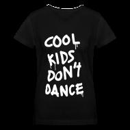 T-Shirts ~ Women's V-Neck T-Shirt ~ Cool Kids Don't Dance Women's T-Shirts