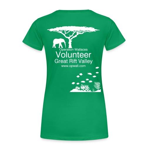 Opwall Great Rift Valley Women's Premium T-Shirt - Women's Premium T-Shirt