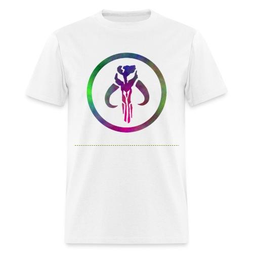 Mythosaur skull - rainbow swirl M - Men's T-Shirt