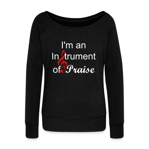 Women's Black Wideneck Instrument of Praise Sweatshirt - Women's Wideneck Sweatshirt