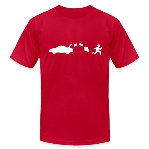 Men's Red Jump shirt - Men's T-Shirt by American Apparel