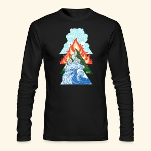 RISE ELEMENT Mens Long Sleeve Tee - Men's Long Sleeve T-Shirt by Next Level