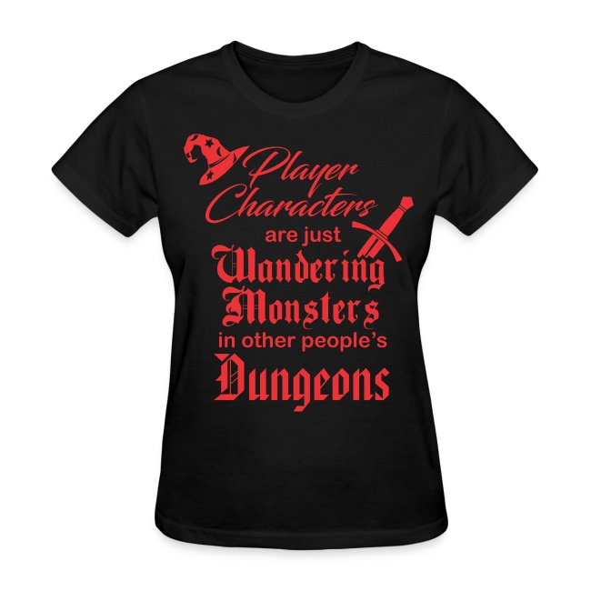 Player Character Wandering Monster Women's Premium T-Shirt