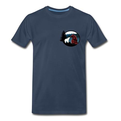 Men's T-Shirt with Small Logo - Men's Premium T-Shirt