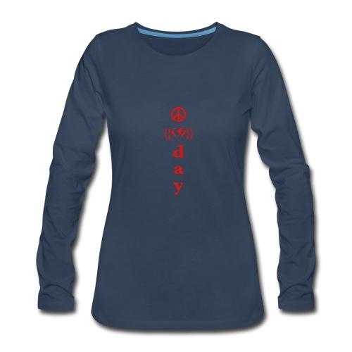 * V-Day: ☮ ❤ #MeToo *  - T-shirt Premium à manches longues pour femmes
