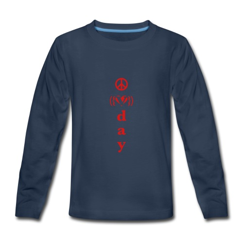 * V-Day: ☮ ❤ #MeToo *  - Kids' Premium Long Sleeve T-Shirt
