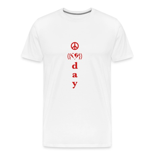 * V-Day: ☮ ❤ #MeToo *  - Men's Premium T-Shirt