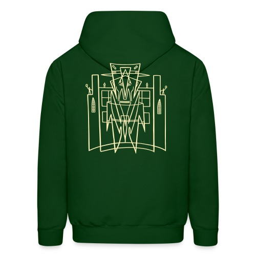 This is the City Back only - (For DARK Hoodies) - Men's Hoodie