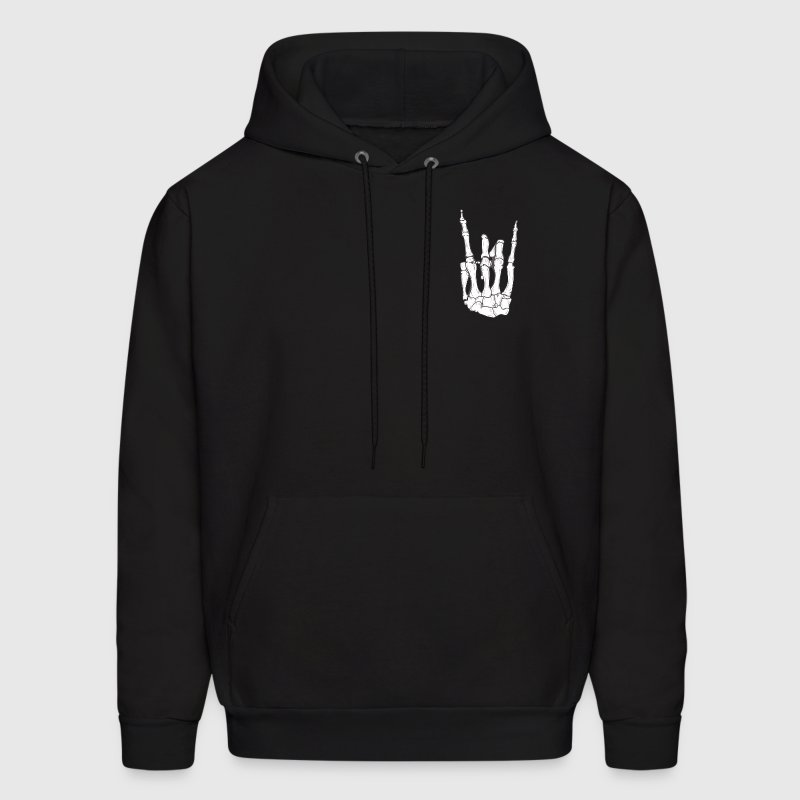 Skeleton Hand Rock On - Men's Hoodie