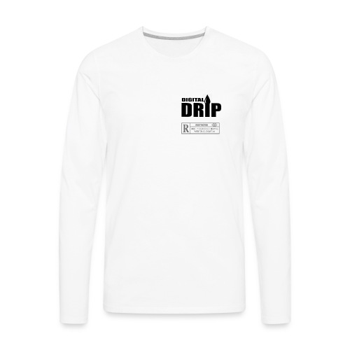 24DDRIP White LS (Mens) - Men's Premium Long Sleeve T-Shirt