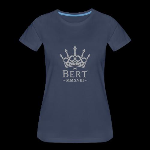 QueenBert 2018-Silver Glitter - Women's Premium T-Shirt