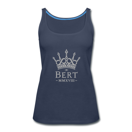 QueenBert 2018-Silver Glitter - Women's Premium Tank Top