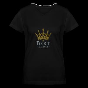 QueenBert 2018-Gold/Silver - Women's V-Neck T-Shirt