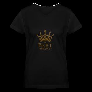 QueenBert 2018-Gold Glitter - Women's V-Neck T-Shirt