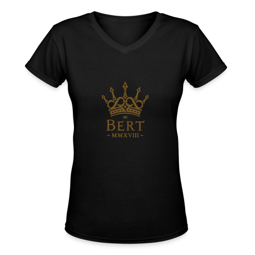 QueenBert 2018-Gold Glitter - Women's V-Neck T-Shirt