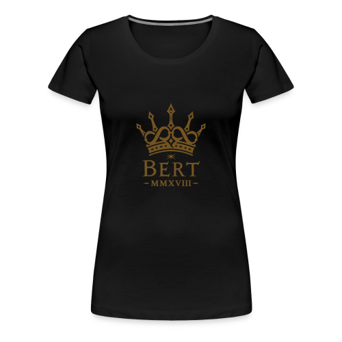 QueenBert 2018-Gold Glitter - Women's Premium T-Shirt