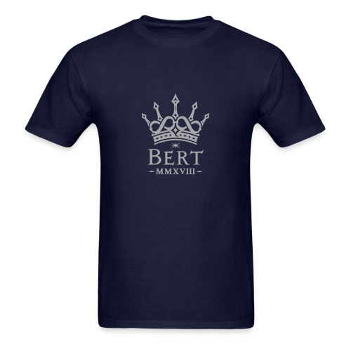 QueenBert 2018-Silver Glitter - Men's T-Shirt