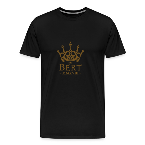 QueenBert 2018-Gold Glitter - Men's Premium T-Shirt