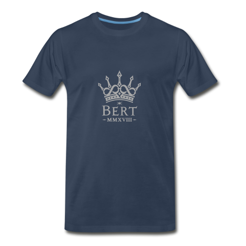 QueenBert 2018-Silver Glitter - Men's Premium T-Shirt