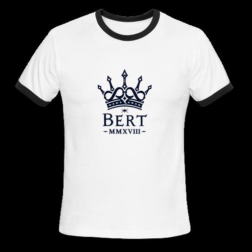 QueenBert 2018-Black Glitter - Men's Ringer T-Shirt