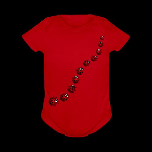 Ladybug / Ladybird Bodysuit - Baby - Organic Short Sleeve Baby Bodysuit