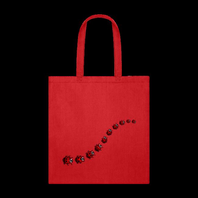Ladybug Art Tote Bags