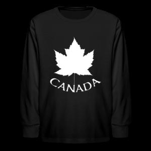 Kid's Canada Souvenir T-shirt Maple Leaf Kid's T-shirt - Kids' Long Sleeve T-Shirt