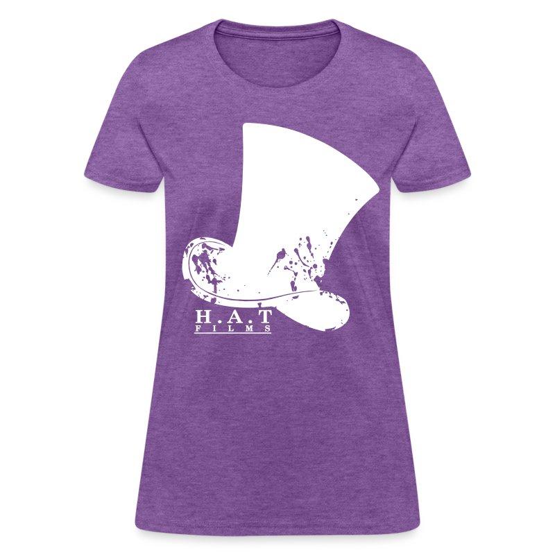 Official Hat Films Full Frontal (White Logo) - Women's T-Shirt
