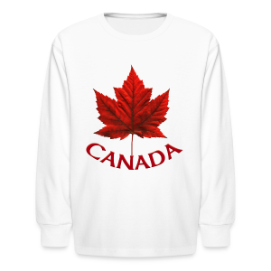 Kid's Canada Souvenir T-shirt Maple Leaf Kid's T-shirt - Kids' Long Sleeve T-Shirt