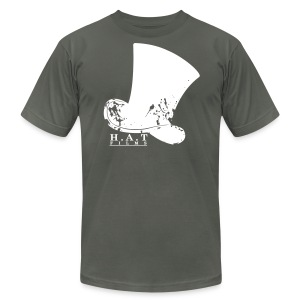 Official Hat Films Full Frontal (White Logo) - Men's Fine Jersey T-Shirt