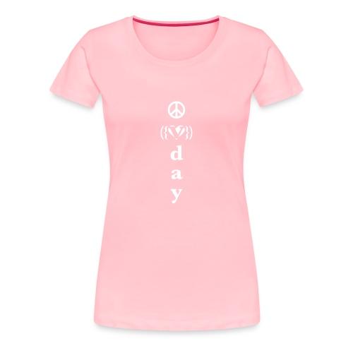 * V-Day: ☮ ❤ #MeToo *  - Women's Premium T-Shirt