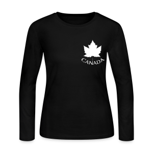 Women's Canada Jersey Shirt Maple Leaf Souvenir Shirts - Women's Long Sleeve Jersey T-Shirt