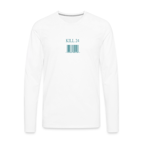 Kill 24 White LS - Men's Premium Long Sleeve T-Shirt