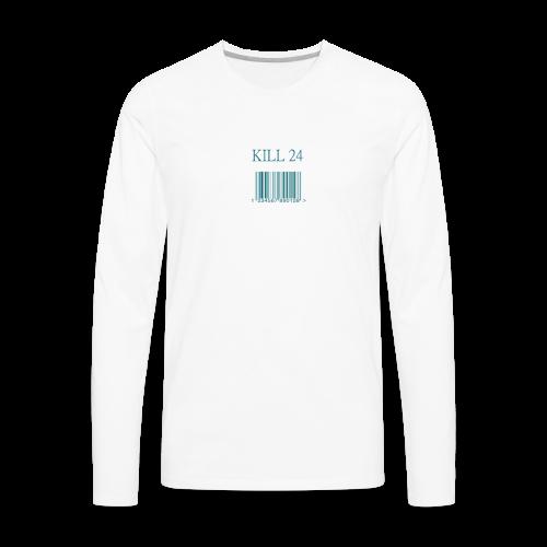 Kill 24 White LS - Men's Premium Long Sleeve T-Shirt