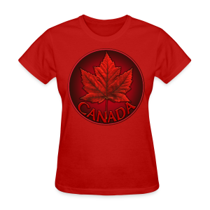 Women's Canada T-shirt Souvenir Canadian Maple Leaf Ladies Shirt - Women's T-Shirt