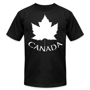 Men's Canada Shirt Souvenir Red Maple Leaf Men's Shirts - Men's T-Shirt by American Apparel